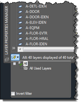 AutoCAD Layer Palette Peek-a-boo Layer Filters