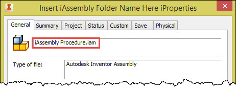 Autodesk Inventor iAssembly Filename