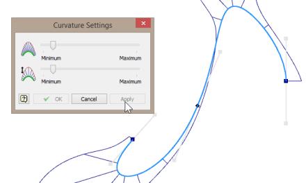 Autodesk Inventor 2014 | Modify curvature display UI bug