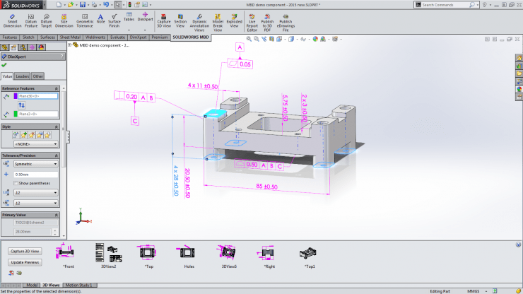 Solidworks MBD Screen Shot