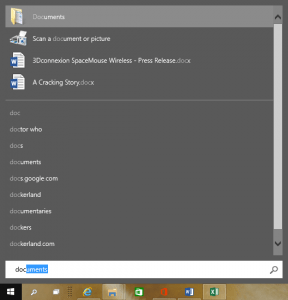 Windows 10 Start Menu Search