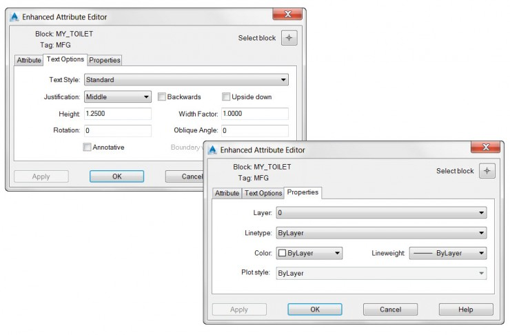 AutoCAD Enhanced Attribute Editor