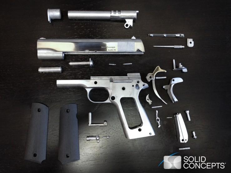 Solid Concepts 3D Printed Metal 1911 Gun Components
