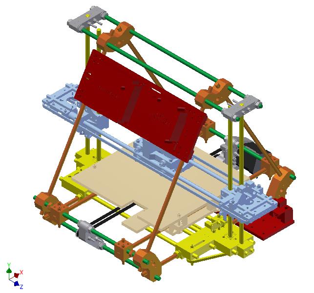 Mendel 3D Printer CAD Model