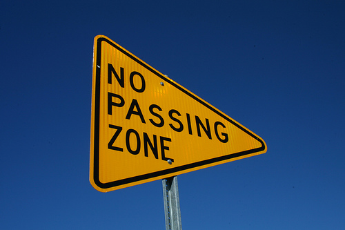 No Passing Sign