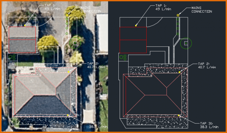 Irrigation Design in AutoCAD