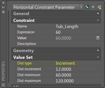 Dynamic Blocks - Dimension Increment Set