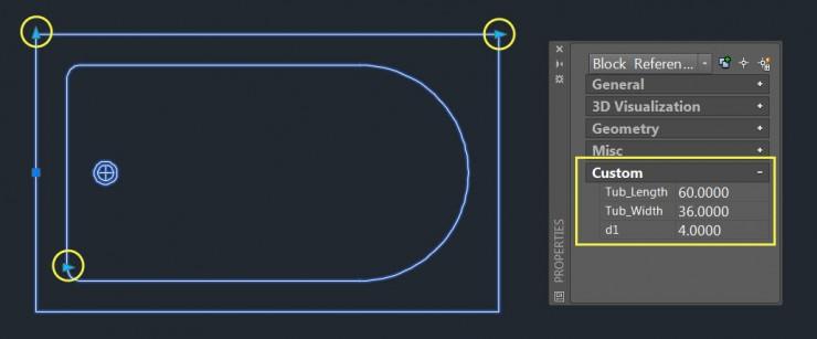 Grip Editing a Parametrically defined Dynamic Block