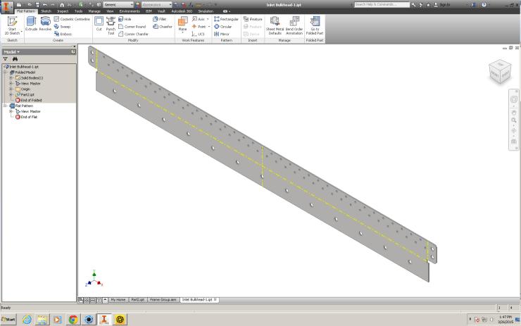 Autodesk Inventor 2016: Sheet Metal Flat pattern