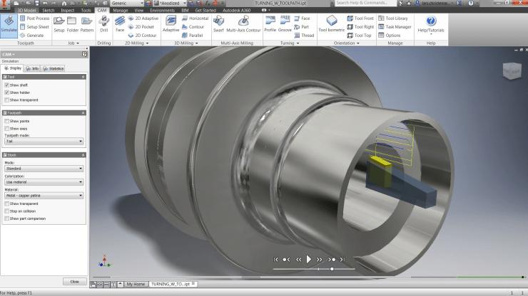 Autodesk InventorHSM 2016 Gets Turning