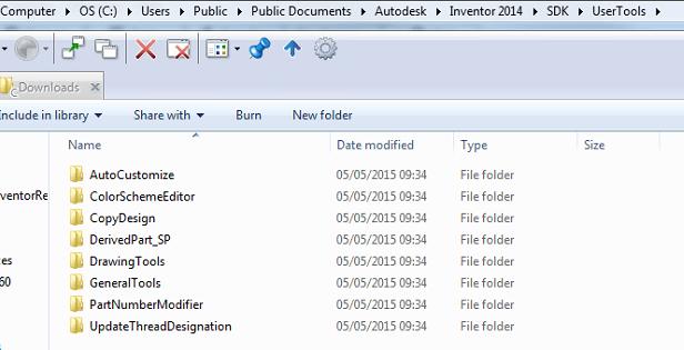 Inventor SDK UserTools