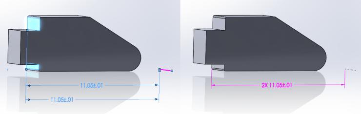 DimXpert - Combine Dimensions