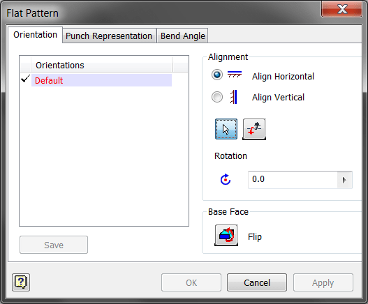 Inventor Sheet Metal - Flat Pattern Definition