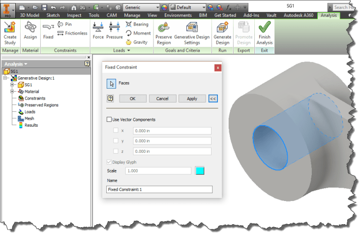 Inventor 2016 R2 - SG Fix Constraint