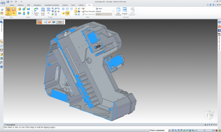 Siemens Solid Edge ST8 Mini-Mill section rendering