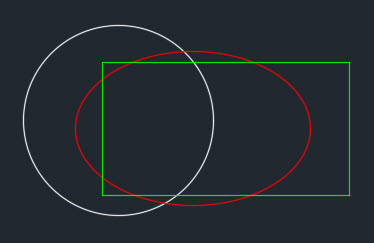 AutoCAD Region Circle, Ellipse, Rectangle