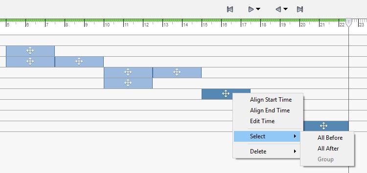 INV2017 R2 - Timeline Multi Right Click