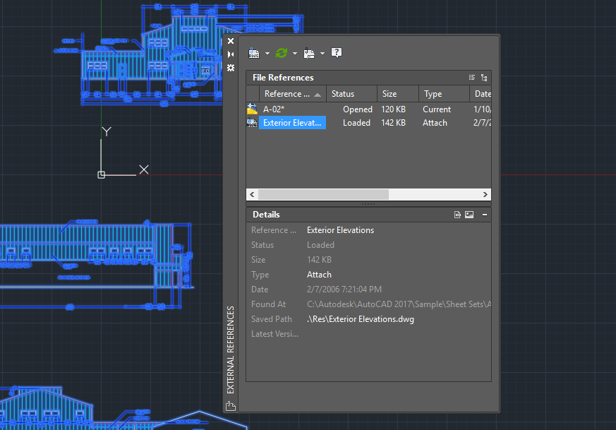 AutoCAD-Sheet-Set-Xref Manager