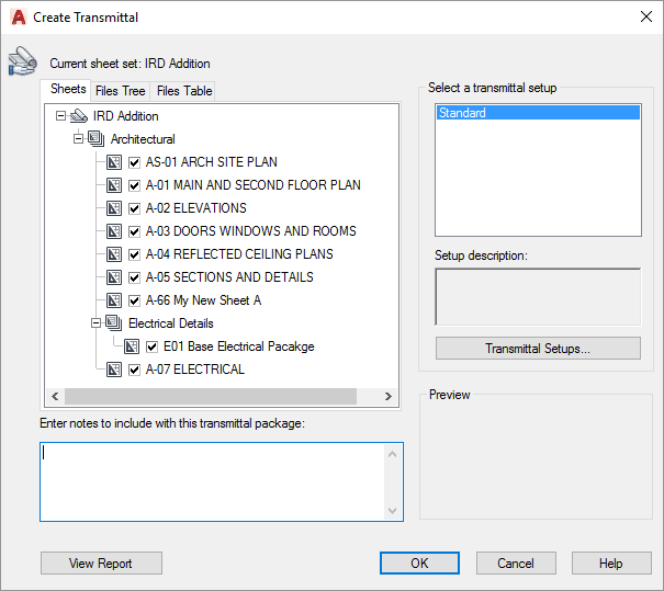 AutoCAD-eTransmit-Create-Transmittal-Dialog