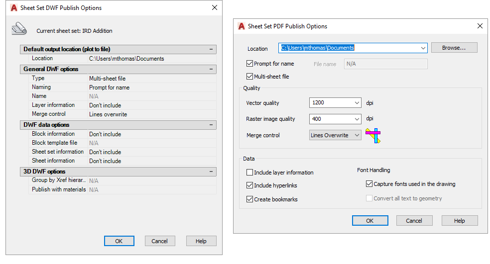Sheet-Set-Manager-Publish-Options-PDF-DWF