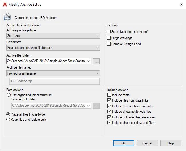 Sheet-Set-Modify-Archive-Setup