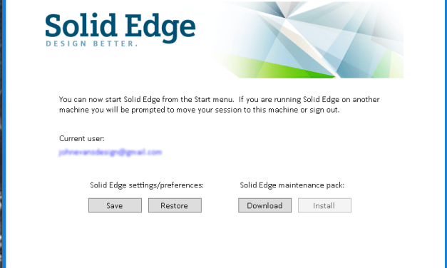 Solid Edge Cloud-Enabled Licensing for ST9 Follow-up