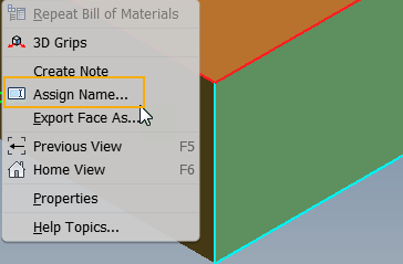 Inventor-2019-iLogic-Assign-Face