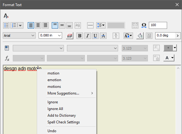 Inventor 2019.2 Spell Check Menu