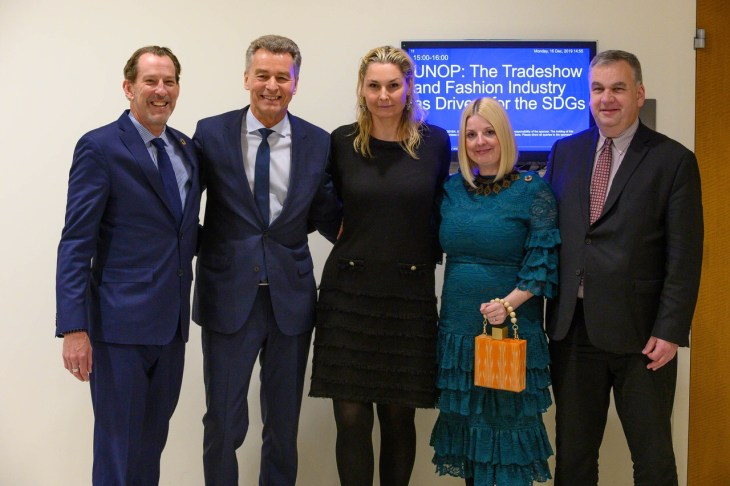 Design and Style Report image, United Nations Headquarters, Messe Frankfurt SDG press conference