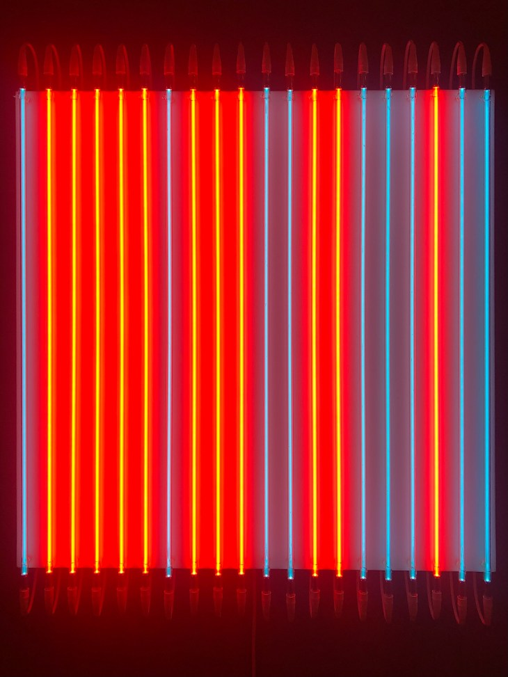 Design and Style Report image, François Morellet neon artwork at Hauser & Wirth New York