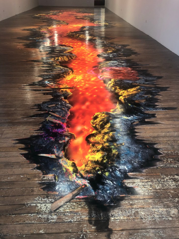 Design and Style Report image, John Russell floor artwork at Bridget Donahue Gallery in NYC
