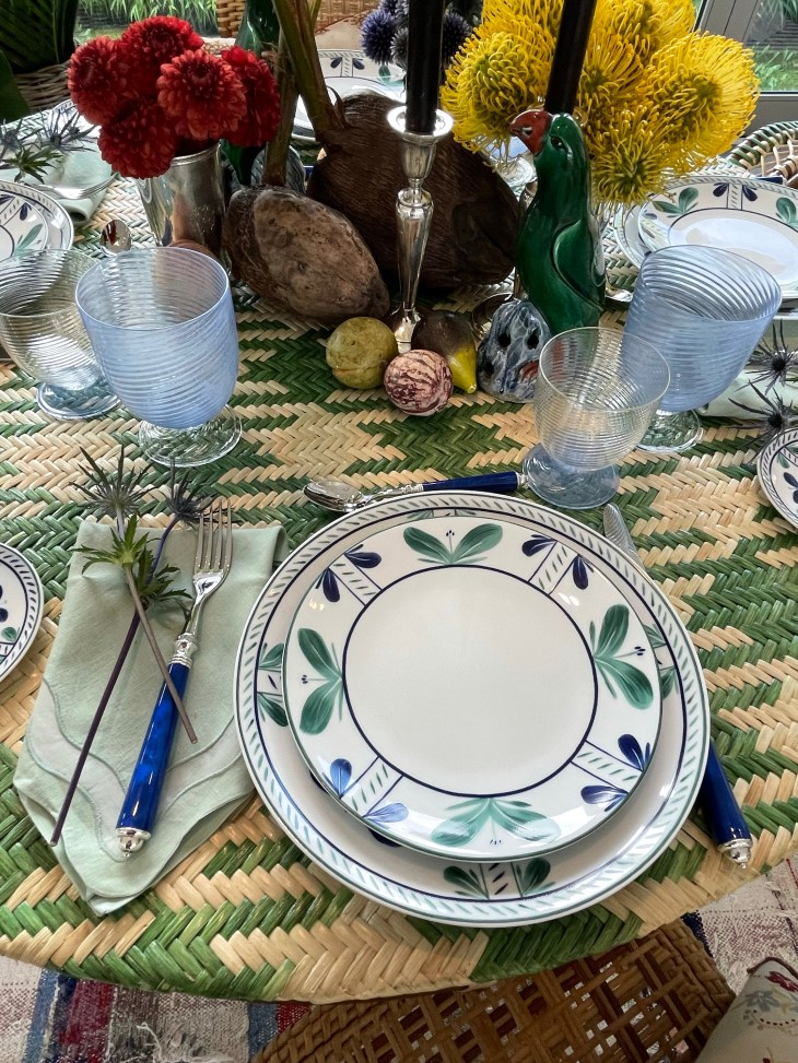 Design and Style Report image, Hoildy House Designs Tabletop event at Topping Rose House, Bridgehampton, Christine Nielson design