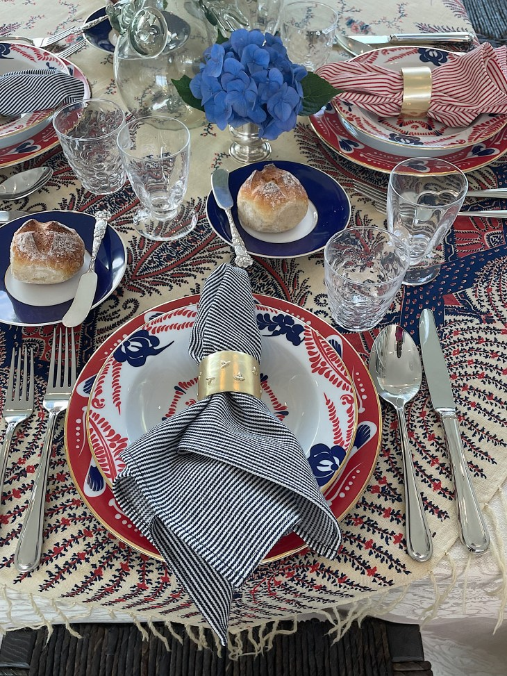 Design and Style Report image, Hoildy House Designs Tabletop event at Topping Rose House, Bridgehampton, Brittany Marom tabletop design