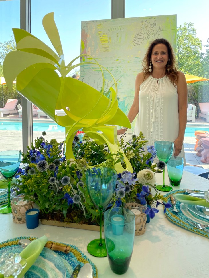 Design and Style Report image, Hoildy House Designs Tabletop event at Topping Rose House, Bridgehampton, Melanie Roy design