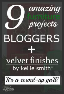 It's a blogger + Velvet Finishes Round-Up. Check out 9 amazing projects!