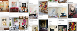 design focus: oversized art pinterest board