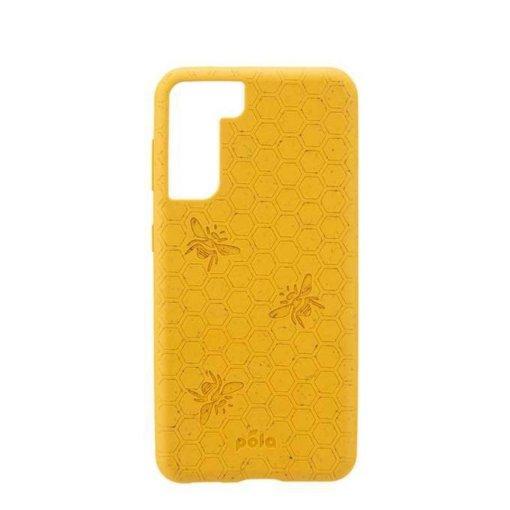 Pela Classic Engraved miljövänligt Samsung S21 fodral - Honey Bee