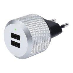 Just Mobile AluPlug - Den lyxiga väggladdaren med 2 x USB 2.4A