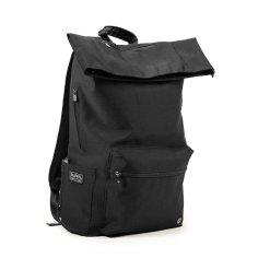 PKG Brighton Foldtop Backpack för laptop upp till 16 tum - Svart