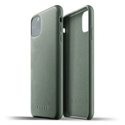 Mujjo Full Leather Case för iPhone 11 Pro Max - Slate Green