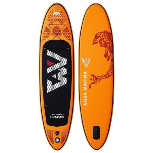 Oranžovo-černý paddleboard