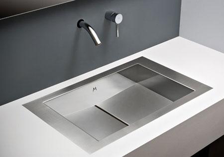 tri mount stainless steel bathroom sink