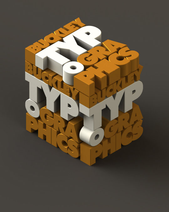 3D typography art