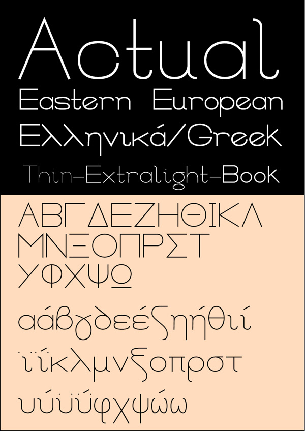 Free Font Of The Day  Actual