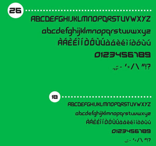 4.free font of the day leave