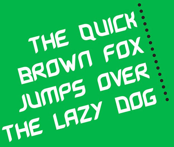 8.free font of the day leave