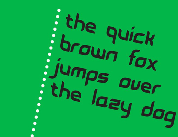 9.free font of the day leave