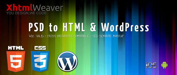 4. PSD To HTML Services