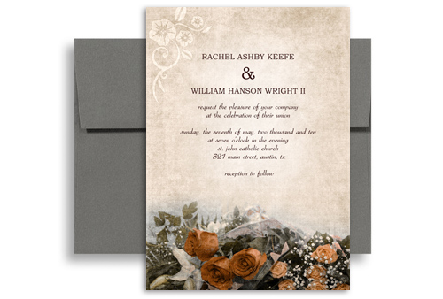 Your Wedding Invitations In A Unique Manner Opt For This Telegram With Hearts Addressing Invitation Card That Has Very Vintage Look About It