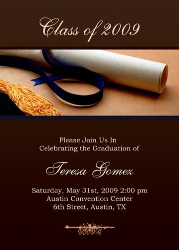 Graduation Invitation Cards Templates